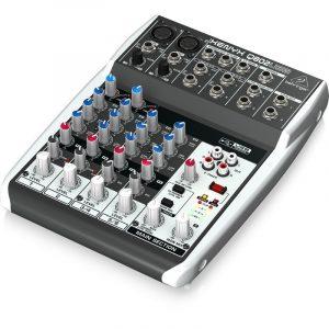 מיקסר ברינגר 8 ערוצים הכולל קומפרסור לערוצי המיקרופון וחיבור למחשב להשמעה/הקלטה