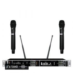 זוג מיקרופונים UHF מקצועי