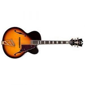 גיטרה ווליום D'Angelico EXL-1VS ARCHחלק עליון-floating VINTAGE SB