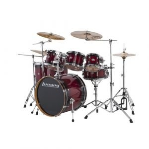 "מערכת תופים ""22 6 חלקים LUDWIG Evolution Maple Red Burst"