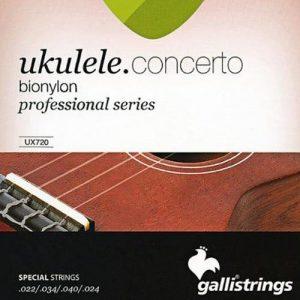 סט מיתרים ליוקללה קונצרט GALLI UX720