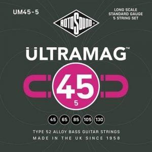 סט מיתרים לבס 5 מיתרים ROTOSOUND UM45-5 ULTRAMAG BASS SET 0.45