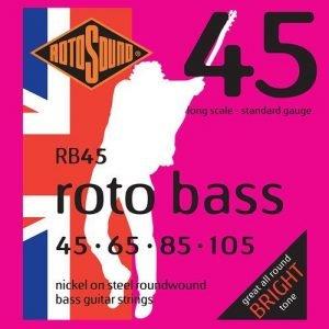 סט מיתרים 0.45 ניקל לגיטרה בס ROTOSOUND RB45